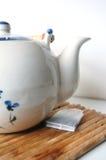 配置文件茶壶 免版税库存照片