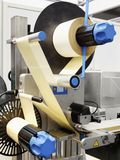配药标记器的传动机的片段 行业抽象背景 § 库存照片