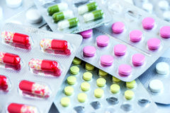 配药片剂和胶囊 库存照片