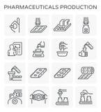 配药生产象 库存例证