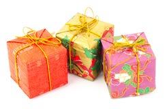 配件箱五颜六色的礼品 免版税库存图片