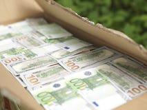 配件箱充分的货币 免版税库存照片