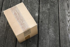 配件箱发运查出的白色 库存图片