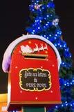 配件箱圣诞节信函圣诞老人 免版税库存照片