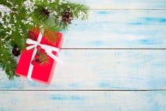 配件箱圣诞节礼品红色 免版税库存图片
