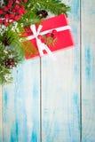配件箱圣诞节礼品红色 库存照片