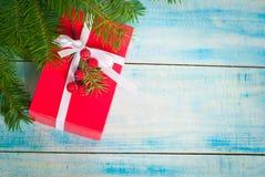 配件箱圣诞节礼品红色 库存图片