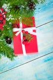 配件箱圣诞节礼品红色 图库摄影