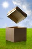 配件箱开放纸张 免版税库存图片