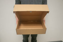 配件箱开放纸张 免版税图库摄影