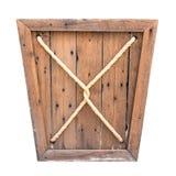 配件箱查出的木头 库存图片