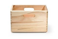 配件箱查出的木 免版税图库摄影