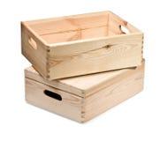 配件箱查出的木 免版税库存照片