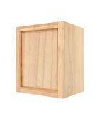 配件箱查出的空白木 免版税库存照片