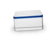 配件箱查出的金属白色 免版税库存图片