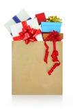 配件箱检查礼品图象类似我的投资组合 库存图片