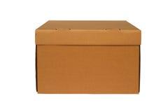 配件箱棕色纸板 免版税库存照片
