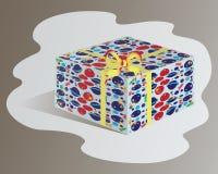 配件箱礼品查出的白色 孩子的设计 免版税库存图片