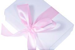 配件箱礼品查出的白色 图库摄影