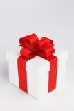配件箱礼品查出的白色 库存照片