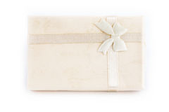 配件箱礼品查出的白色 库存图片