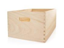 配件箱空白木 图库摄影