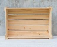 配件箱空的木头 免版税库存图片