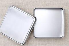 配件箱空的金属 免版税库存照片