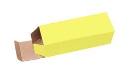 配件箱纸板例证向量黄色 库存照片