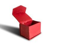 配件箱被开张的红色 背景查出的白色 图库摄影