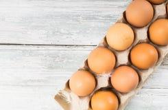 配件箱鸡鸡蛋 免版税库存照片