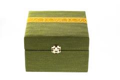 配件箱绿色丝绸 免版税库存图片