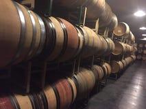 酒乡加利福尼亚venyard 免版税库存图片
