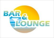酒吧和休息室商标 库存图片