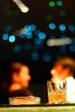 酒吧和威士忌酒酒精 免版税库存照片