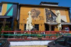 酒吧和餐馆在贝尔格莱德 库存图片