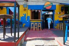 酒吧和餐馆在贝尔格莱德 免版税库存照片