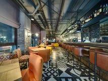酒吧在墨西哥餐馆 免版税库存图片