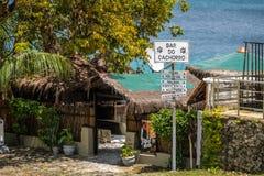 酒吧在维拉dos Remedios村庄做Cachorro -费尔南多・迪诺罗尼亚群岛, Pernambuco,巴西 库存图片