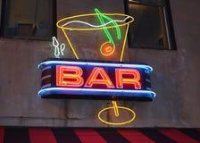 酒吧标志 免版税库存照片