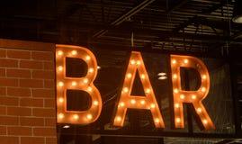 酒吧标志 免版税库存图片