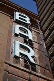 酒吧签到罗马 免版税库存照片