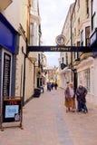 酒吧街道, Scarborugh,约克夏,英国 免版税图库摄影