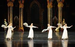 酒吧mitzvah这第三行动芭蕾天鹅湖的俄国全国服装这王子 免版税图库摄影