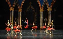 酒吧mitzvah这第三行动芭蕾天鹅湖的小丑活跃大气这王子 库存图片