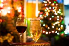 酒和威士忌酒玻璃 库存图片