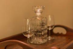 酒和威士忌酒 免版税库存照片