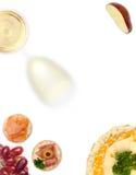 酒和干酪接收 免版税库存照片