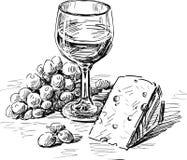 酒和干酪 图库摄影