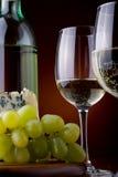 酒和干酪 免版税图库摄影